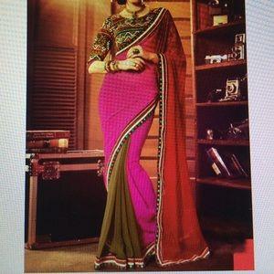 Other - Beautiful three toned Chiffon sari (no blouse)